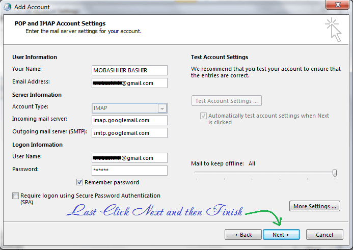pop account settings