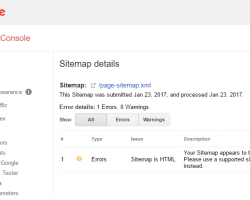 Your Sitemap appears to be an HTML page – [Solved]